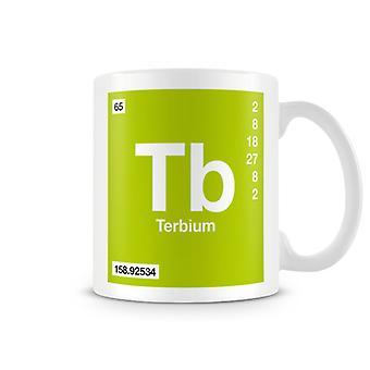 Mug imprimé scientifique mettant en vedette élément symbole Tb 065-Terbium