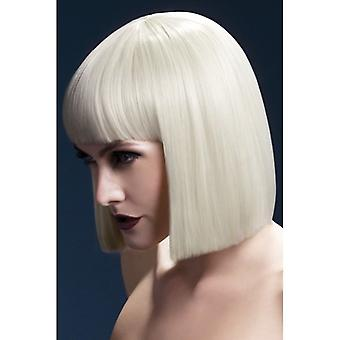 "Smiffy's Fever Lola Wig Blonde, Blunt Cut Bob With Fringe (12"", 30cm)"