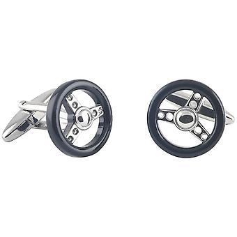 Дэвид ван Хаген рулевое колесо запонки - серебристый/черный