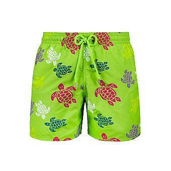 Vilebrequin Vilebrequin العشب الأخضر المتعددة الألوان السلاحف السباحة القصيرة