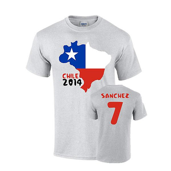 Chile 2014 Country Flag-T-Shirt (sanchez 7)