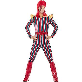 Space Superstar Costume, Multi-Coloured, with Jumpsuit, Belt & Boot Covers