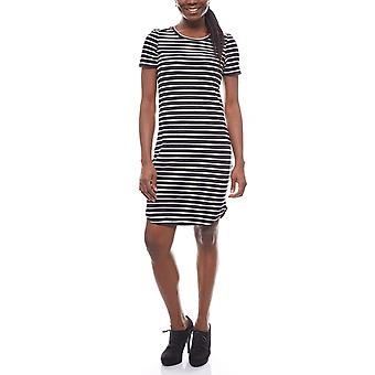 Noisy may gestreiftes Ladies Jersey dress knee-length black/white