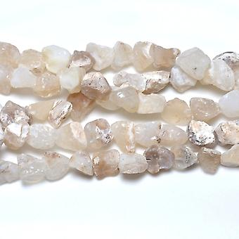Strand 20+ White Opal Approx 15 x 20mm Rough Nugget Beads GS6289