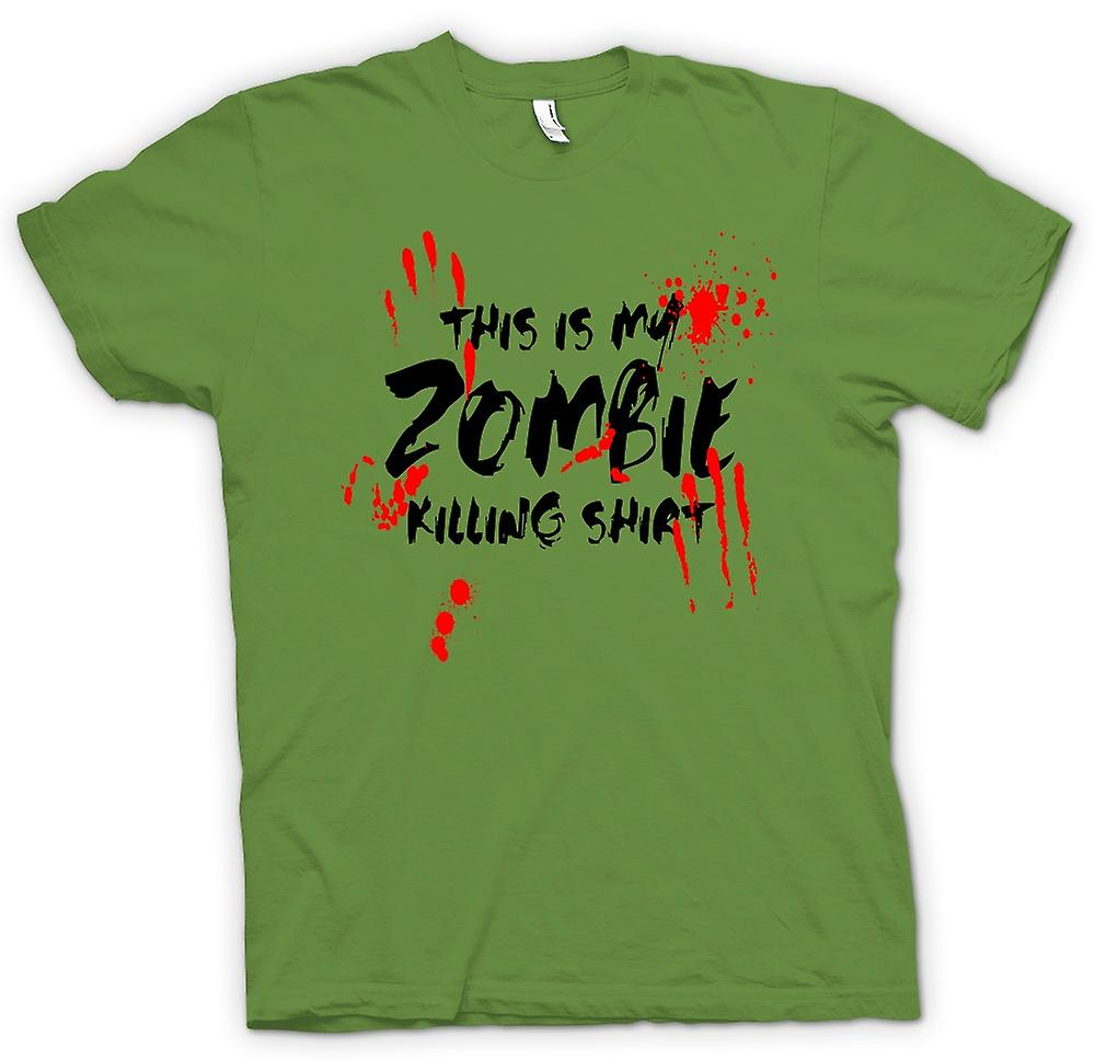 Heren T-shirt - dit Is mijn Zombie Killing - grappig