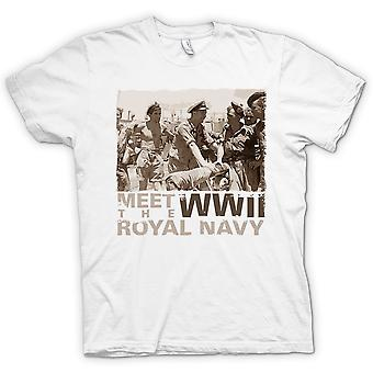 Voldoen aan de Royal Navy WW2 T Shirt