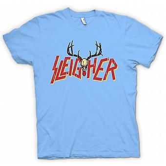 Mens T-skjorte Sleigher Rock Metal inspirert Christmas