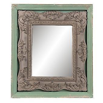 Clayre & EEF parede espelho vidro madeira chalé gasto romance cerca de 41 x 4 x 47 cm