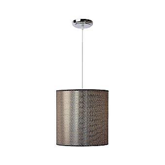 Lucide Moda Cottage ronde metalen hanger grijs met licht