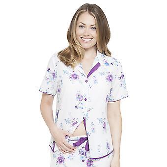 Cyberjammies 4094 Frauen Andrea White Floral Print Pyjama Top