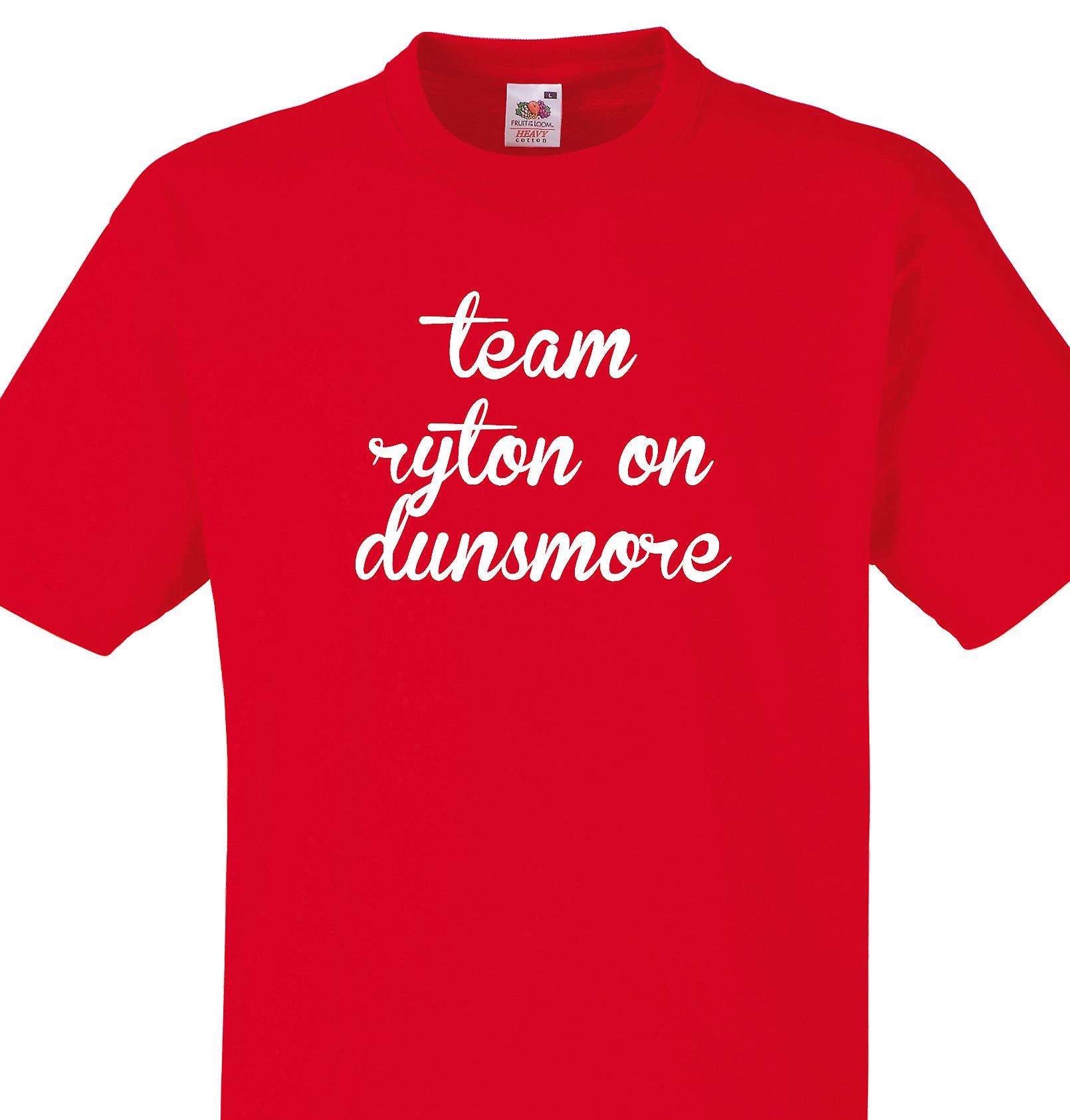 Team Ryton on dunsmore Red T shirt