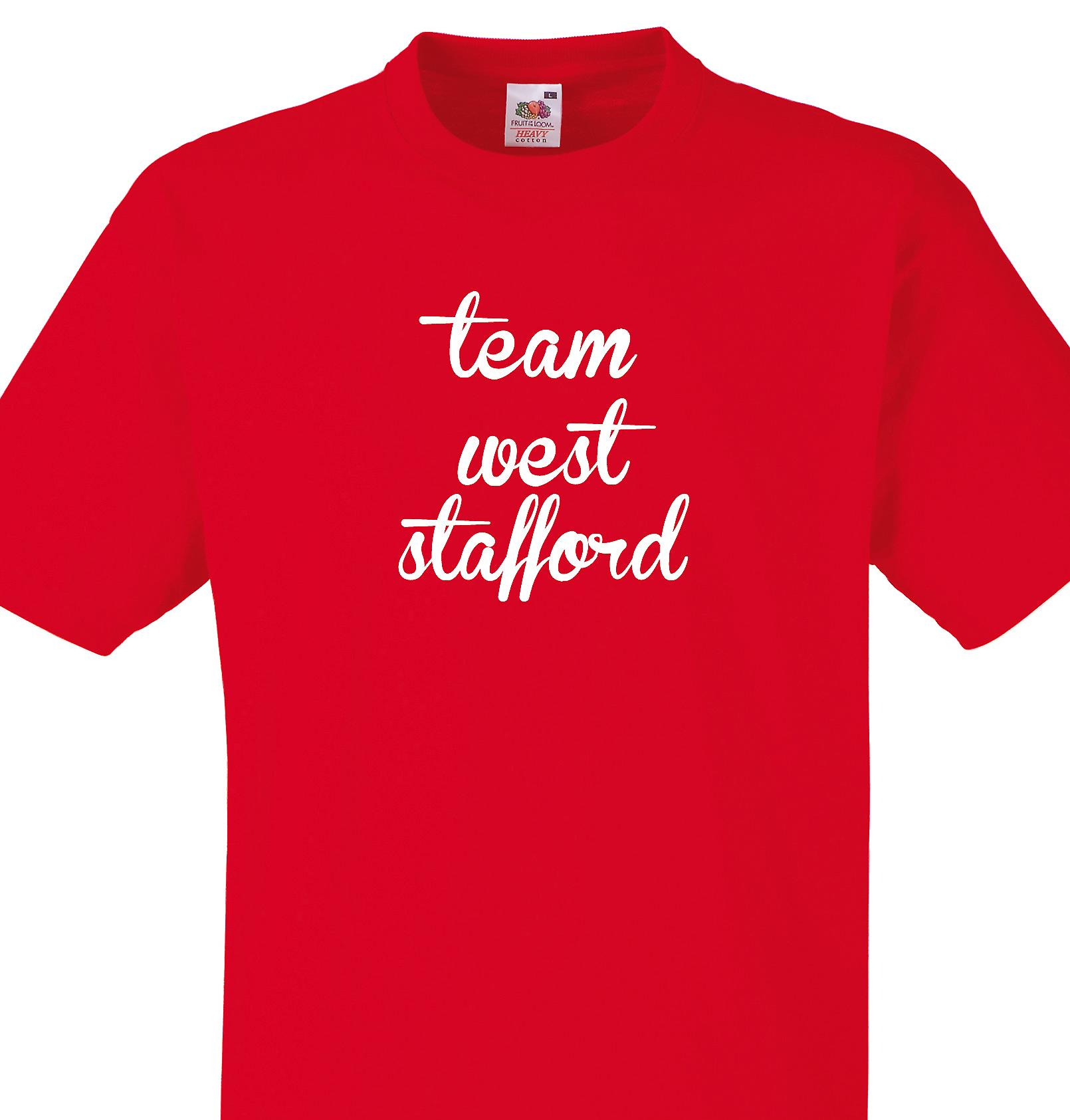 Team West stafford Red T shirt