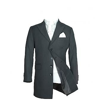 Boys Charcoal Grey & Ivory Sebastian Le Blanc Prince Edward 5 Piece Tail Suit