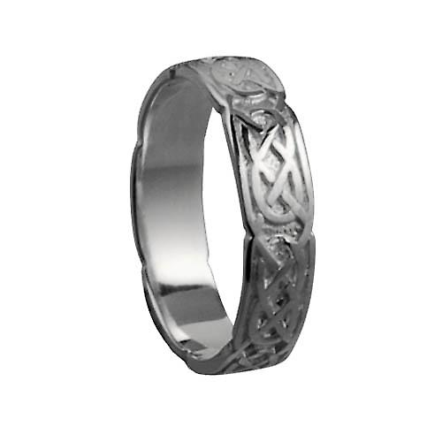 Platinum 4mm Celtic Wedding Ring Size P