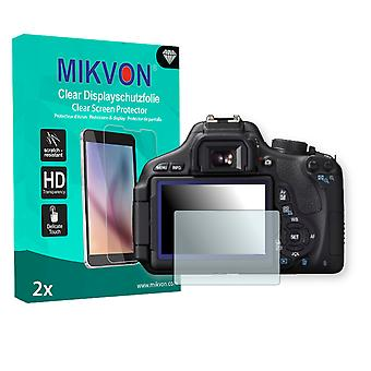 Canon EOS Rebel T3i Screen Protector - Mikvon Clear (Retail Package with accessories)