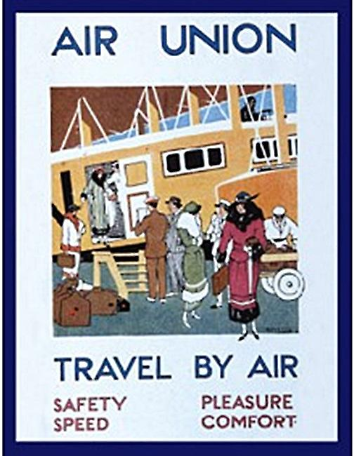 Air Union steel fridge magnet  (hb)