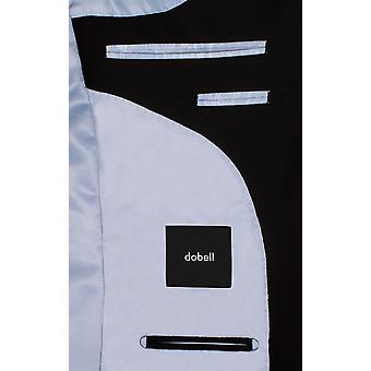 Dobell Mens Black Suit Jacket Regular Fit Travel/Performance Notch Lapel