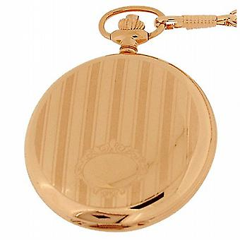 Royal London Pvd Rose forgyldt Hunter herretoilettet Pocket Watch 90011-01
