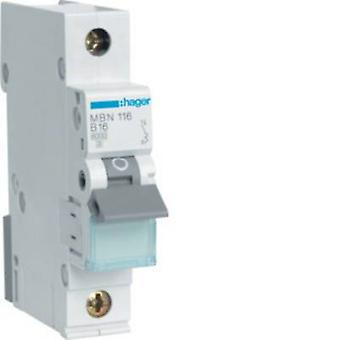 Hager MBN116 Circuit breaker 1-pin 16 A