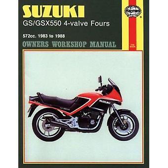 Suzuki GS/GSX550 4-valve Fours 572cc 1983-88 Owner's Workshop Manual