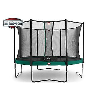 BERG Champion 380 12.5ft Trampoline + Safety Net Comfort Green