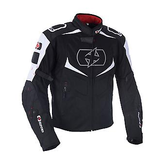 Giacca moto impermeabile Oxford black-white Melbourne 2,0 Air