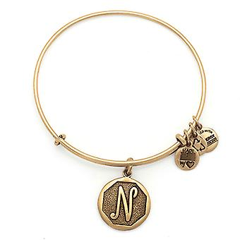 Alex en Ani initiële N Gold Bangle A13EB14NG