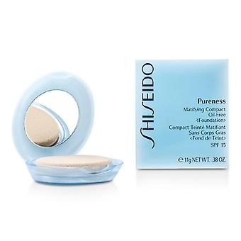 Shiseido Pureness Matifying Compact Oil Free Foundation Spf15 (case + Refill) - # 40 Natural Beige - 11g/0.38oz