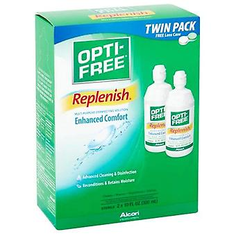 Opti free replenish disinfecting solution, twin pack, 20 oz