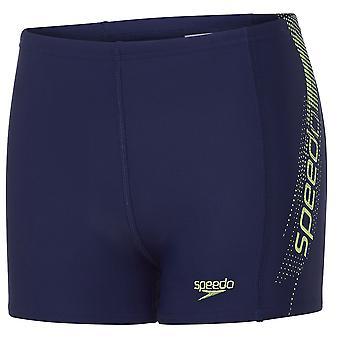 Speedo Sports Placement Kids Boys Swimming Aquashort Water Short Navy Blue