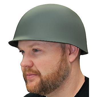 Leger soldaat militaire oorlogstijd groene Mens kostuum luxe dikke Hat helm