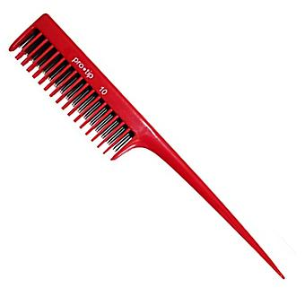Denman Pro Tip Hairdressing Back Combing Tail Comb PTC10 208mm - RED