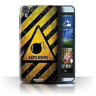 STUFF4 Case/Cover for HTC Desire 826/Explosive/Hazard Warning Signs