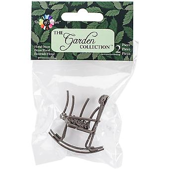 Micro Mini Iron Garden Rocking Chair & Table Set 2/Pkg-Rustic MD50089