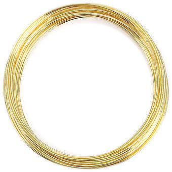 Gold Plated Memory Wire Bracelet .5 Oz Pkg Approx 30 Loops 347A 050