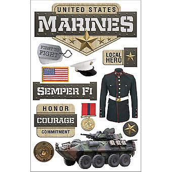 Paper House 3D Stickers Marines Stdm217e