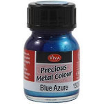 Viva Decor Precious Metal Color 25Ml Pkg Blue Azure Vvpmc 3600