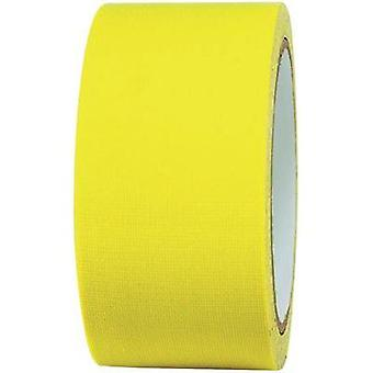 Cloth tape TOOLCRAFT 80FL5025EC Neon yellow (L x W) 25 m x 50 mm Hot glue (HMA) Content: 1 Rolls