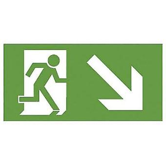 Escape route sign Down right B-SAFETY F563-E