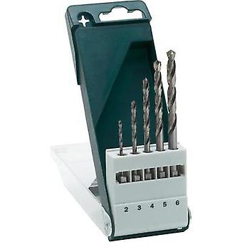 HSS Metal twist drill bit set 5-piece 2 mm, 3 mm, 4 mm, 5 mm, 6 mm
