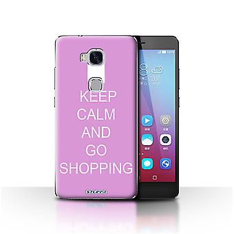 STUFF4 Case/Cover for Huawei Honor 5X/GR5/Go Shopping/Pink/Keep Calm