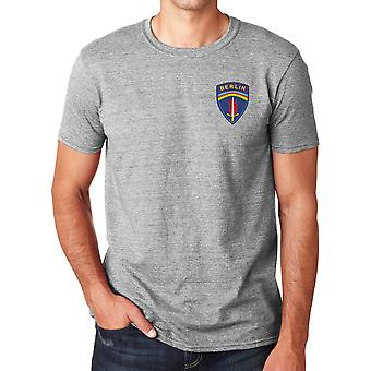 US Army Berlin Brigade Embroidered Logo - Ringspun Cotton T Shirt