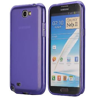 Soft TPU rubber cover for Samsung Galaxy Note 2 (purple)