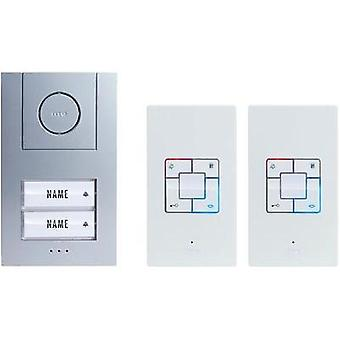 Door intercom Corded Complete kit m-e modern-electronics Vistus AD 4020 Semi-detached Silver, White