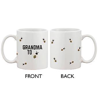 Oma zu Biene lustige Kaffee-Haferl niedlichen Design gedruckten beste Geschenk für Oma