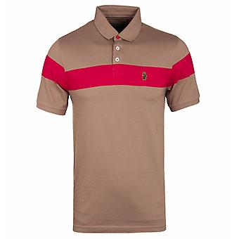 Luke 1977 Starting Over Khaki Sand & Red Short Sleeve Polo Shirt