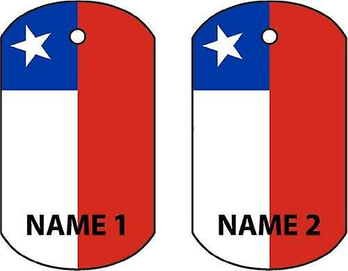 Personalised Chile Dog Tag Car Air Freshener