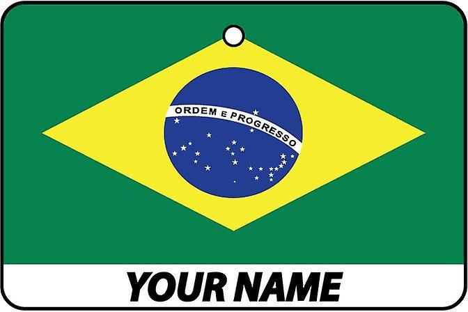Brazil Flag Personalised Car Air Freshener