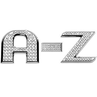 Luxbling car chrome 3D letter with Swarovski element A-Z