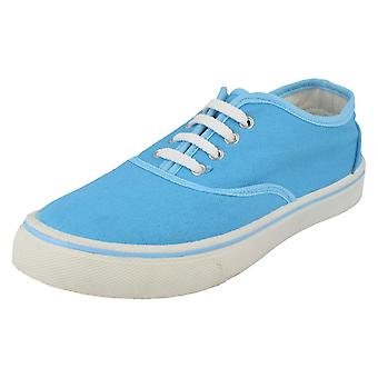 Boys Spot On Flat Lace Up Casual Pump - X0003